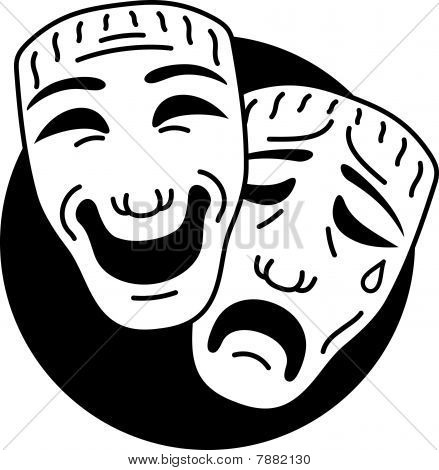 Theatre comedy and tragedy masks