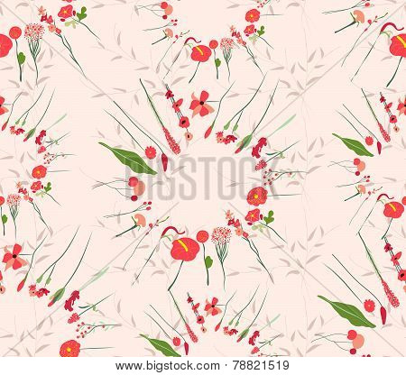 Decoration element Floral style Seamless