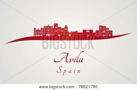 Avila Skyline In Red