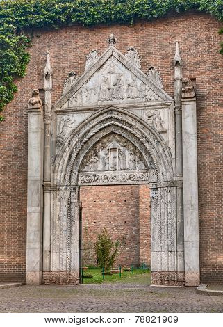 gothic portal in Ravenna, Italy
