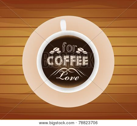 Cup of coffee with love