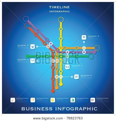 Route Timeline Business Infographic Background Design Template