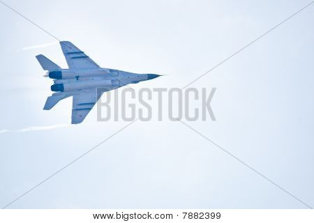 Zhukovskiy, Russia - 22 August, 2009: Military Airplane Su 27 At