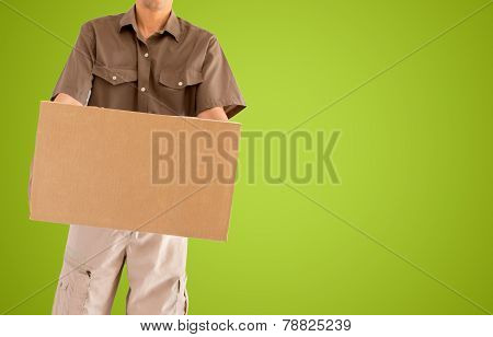 Messenger Carrying A Box To Delivery