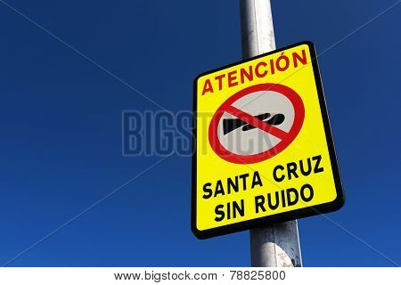 Road sign - horn prohibiting