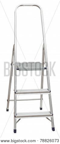 Short Folding Stepladder Isolated On White