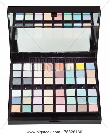 Open Box With Makeup Kits Isolated