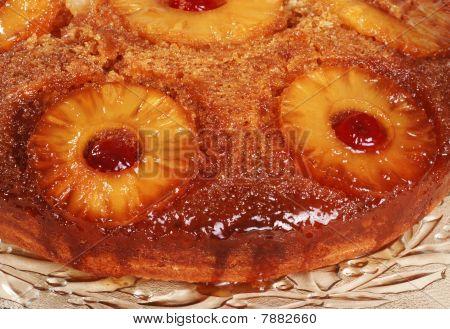 macro pineapple upside down cake