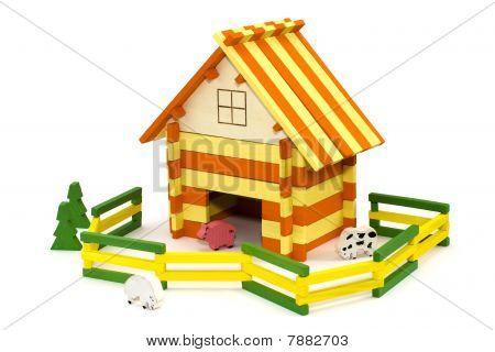 Wooden toy farm