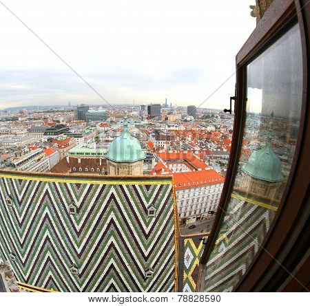 View Of The City From The Bell Tower Of The Cathedral Of St. Stephen In Vienna