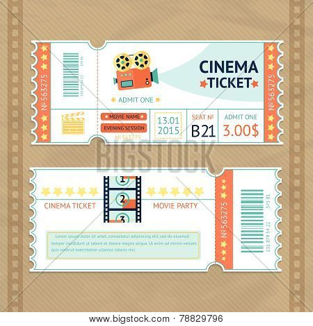 Cinema Tickets Set