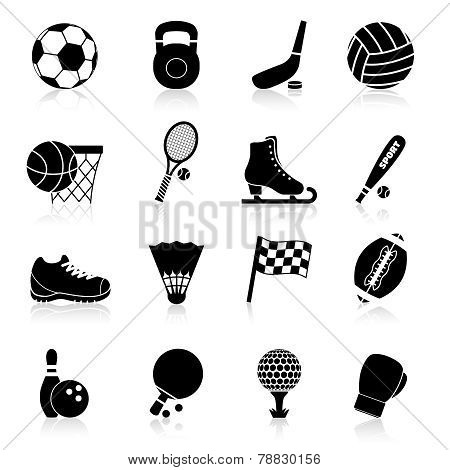 Sport Icons Black