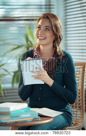 Girl Making Notes