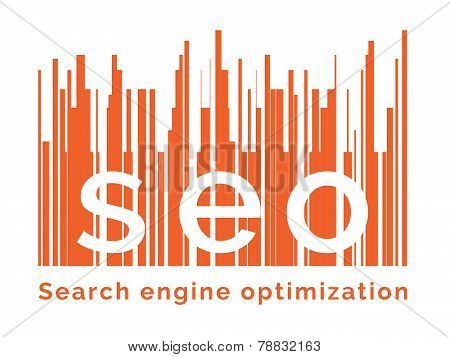 Seo Word On Graph Background