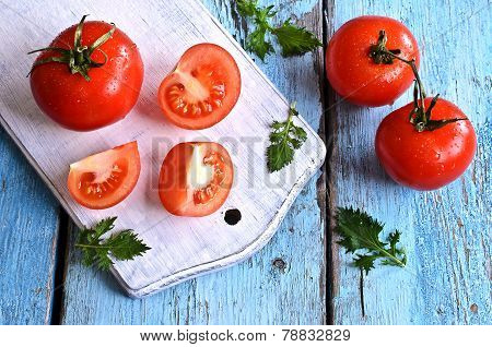 Tomatoes And Green Lettuce