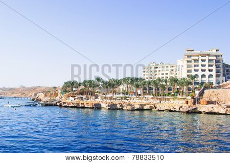 SHARM EL SHEIKH, EGYPT - DECEMBER 15: The tourists are on vacation at popular hotel on December 15,