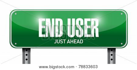 End User Road Sign Illustration Design