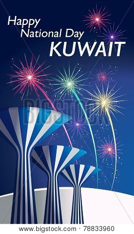 Happy National Day Celebration Kuwait