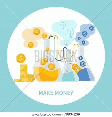 Make money concept