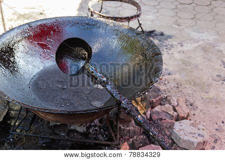 Gum Resin In The Pan