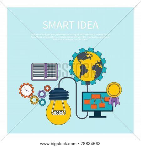 Smart idea concept