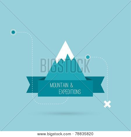 Mountains with ribbon