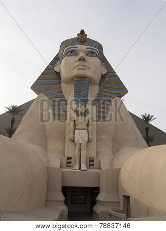 Sphinx And Pyramid At The Luxor Hotel In Las Vegas