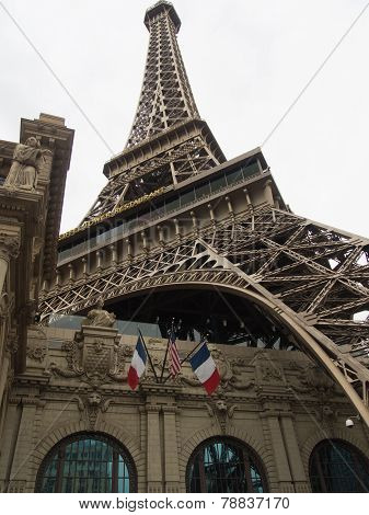 The Eiffel Tower At The Paris Hotel In Las Vegas