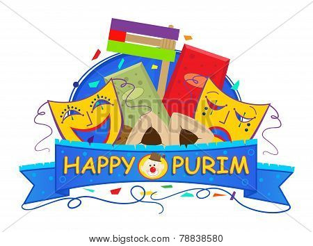 Mask Purim Banner
