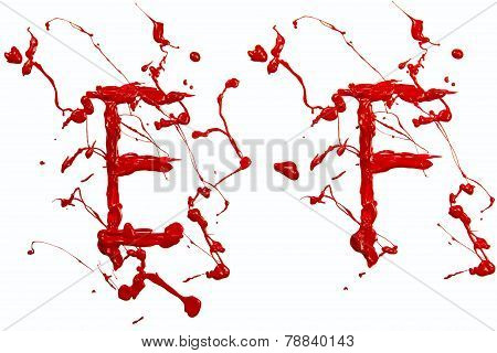 E And F Painted Red