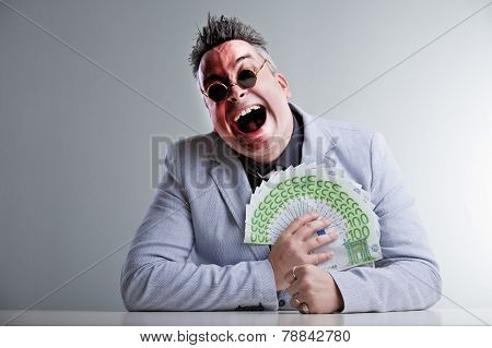 Buisness Man With Money