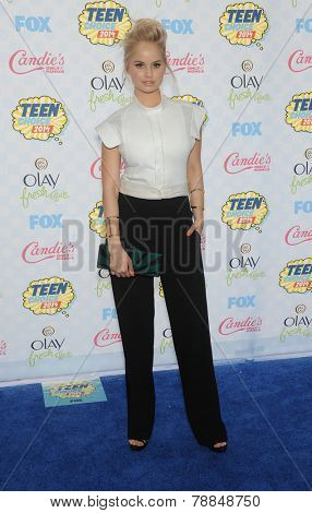 LOS ANGELES - AUG 10:  Debby Ryan arrives to the Teen Choice Awards 2014  on August 10, 2014 in Los Angeles, CA.