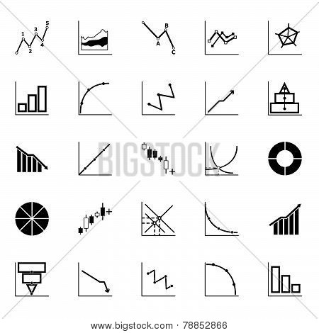Economic And Investment Diagram Line Icon On White Background