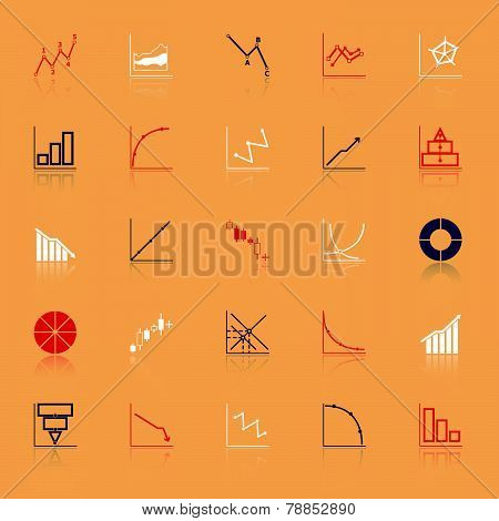 Economic And Investment Diagram Line Icon With Reflect