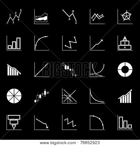 Economic And Investment Diagram Line Icon On Gray Background