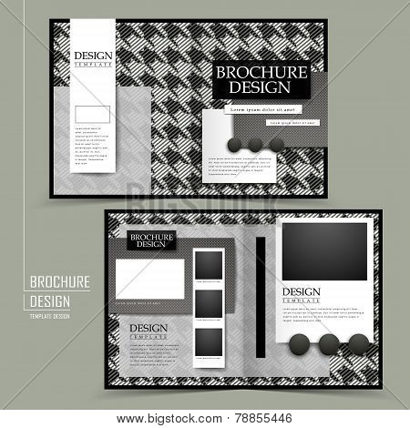 Fashion Half-fold Brochure Template Design