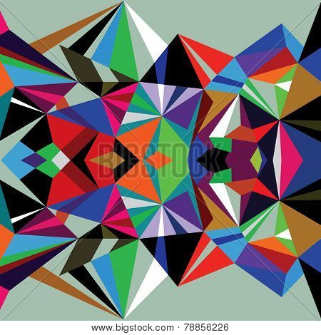 Abstract Background Triangles Vactor