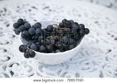 Bowl of Concord Grapes