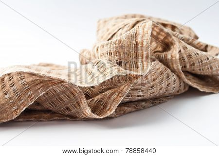 Fabric Texture On White Background, Pattern