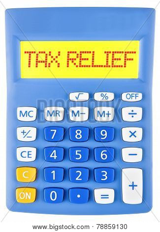 Calculator With Tax Relief On Display