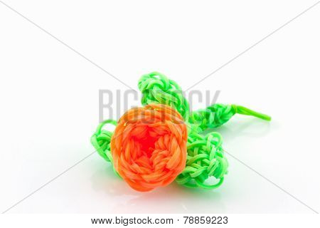 Colorful Elastic Rainbow Loom Bands.