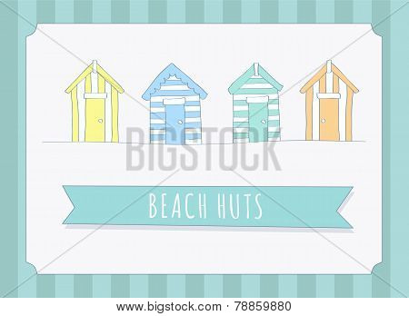 Hand Drawn Beach Huts