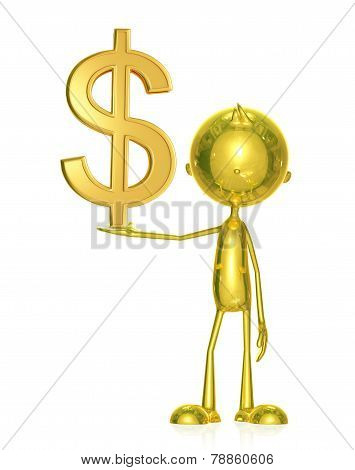 Golden Character With Doller Sign