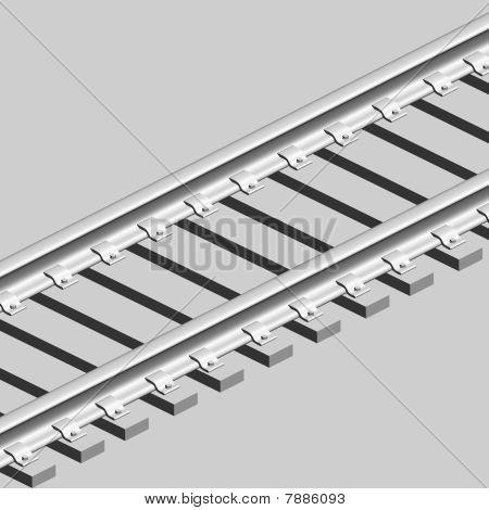 3D Konzept endless Train track