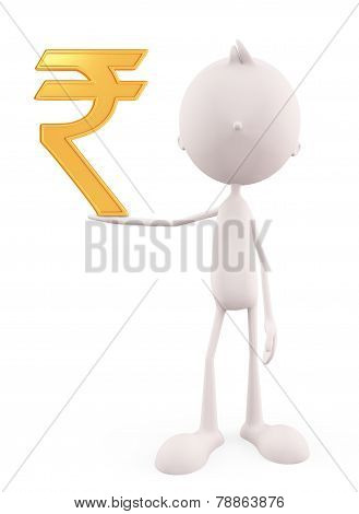 White Character With Rupee Sign