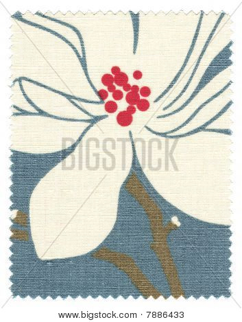 Blue Floral Fabric Swatch
