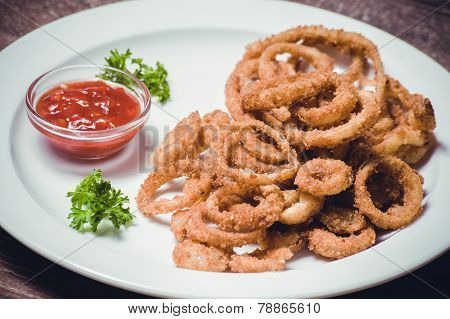 Deep Fried Calamari Squid Rings