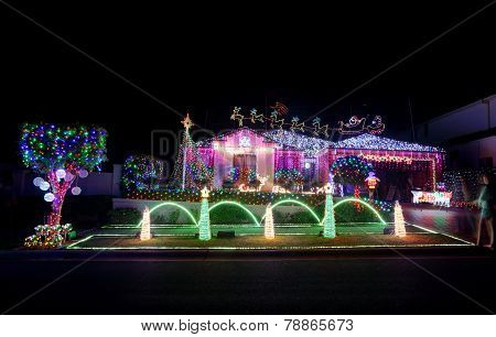 Christmas Magical Wonderland Home Coloured Led Lights Decorations