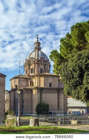 Church Santi Luca E Martina, Rome