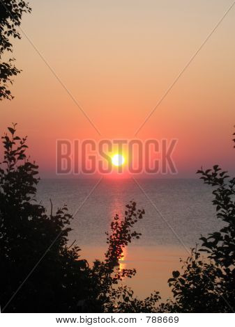 Sunrise over Lake Huron vertical